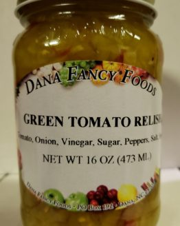 Green Tomato Relish - Local Family Business - Original Family Recipes For over 50 Years - DanaFancyFoods.com