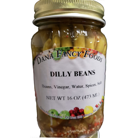 Dilly Beans Local Family Business Original Family Recipes For over 50 Years DanaFancyFoods.com