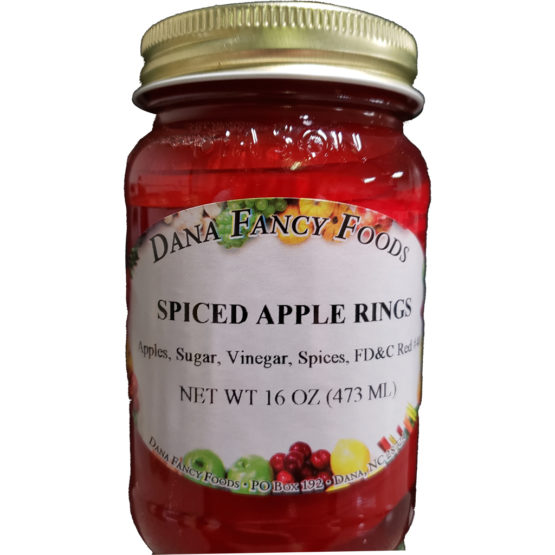 Spiced Apple Rings Local Family Business Original Family Recipes For over 50 Years DanaFancyFoods.com